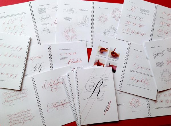 simple copperplate manual calligraphy book