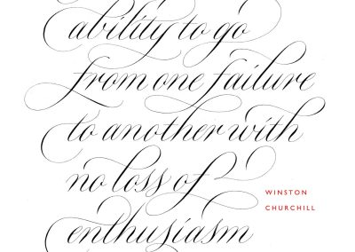 copperplate calligraphy work