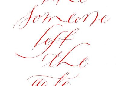 copperplate variations calligraphy work
