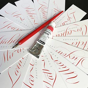 copperplate variations calligraphy workshop