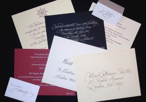 commercial calligraphy sample stationery